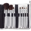 Cala 7-Piece Cosmetic Brush Set with Silver Pouch
