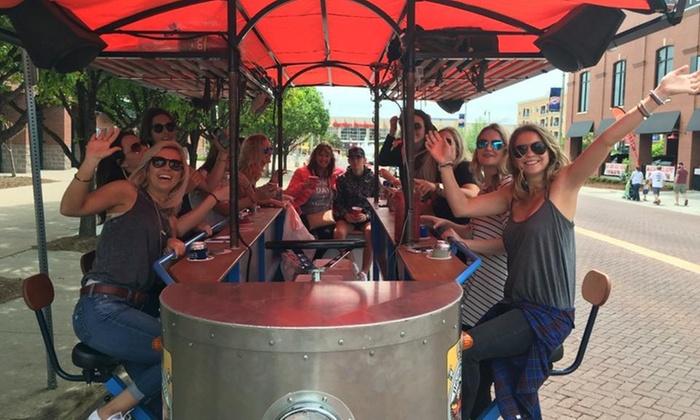 Crawler And Bike Bar Tour Bricktown Bike Bar Livingsocial