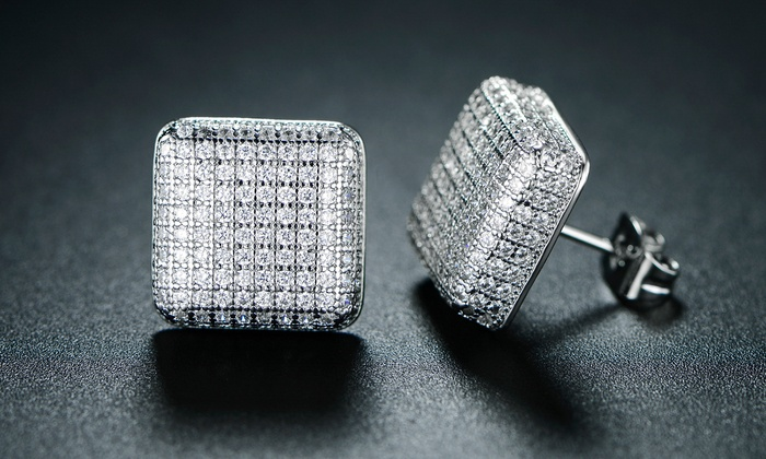 Up To 70 Off On Men S Cubic Zirconia Earrings Groupon Goods