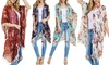 Riah Fashion Women's One Size Floral Tassel Kimono Cardigan