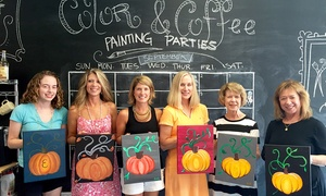 Color and Coffee Painting Parties: Painting Parties at Color and Coffee Painting Parties (Up to 43%  Off). Three Options Available.
