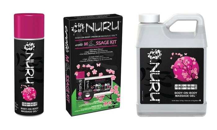 Body to body nuru massage