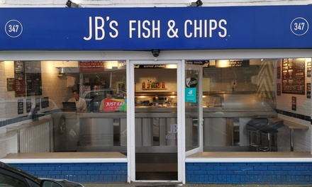 Fish and Chips or Burger with Sides and Drink for Up to Four at JB's Fish and Chips
