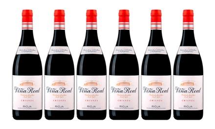 Pack de 6, 12 o 24 botellas de vino Viña Real Crianza 2015 (envío gratuito)
