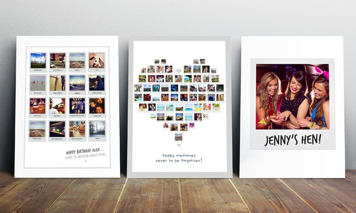 4 styles photo collage prints groupon goods