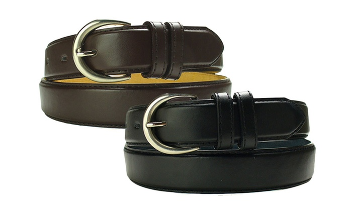 Women's Dress Leather Belt; Plus Sizes Available