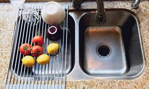 Over-the-Sink Roll-Up Drying Rack and Trivet