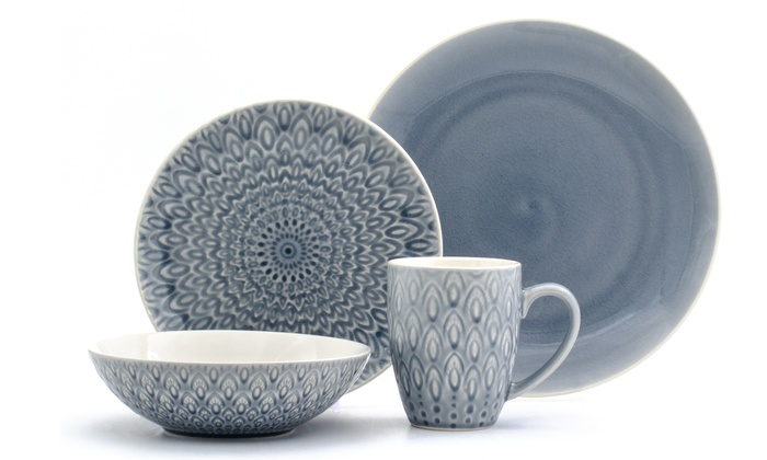Up To 18% Off on Crackle-Glaze Dinnerware (16-Pc) | Groupon Goods