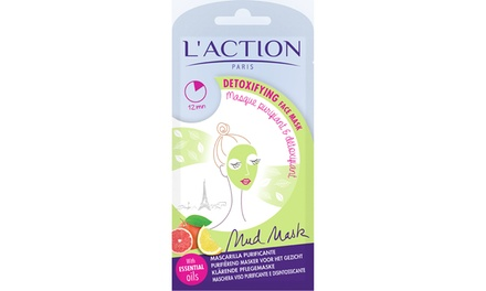 L'Action Paris Six or 12 Detoxifying Face Mud Masks
