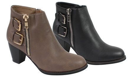 Women's Side-Zippered Ankle Boots