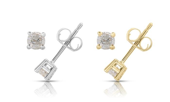 Clearance 1 4 Cttw Diamond Stud Earrings In 10k Gold