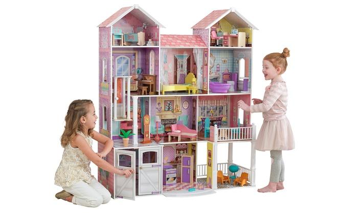 kidkraft puppenhaus groupon. Black Bedroom Furniture Sets. Home Design Ideas