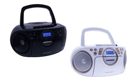 Koramzi Portable Boombox with CD, MP3, USB, Radio, and Cassette Recorder d3094250-e289-11e6-85e1-00259060b5da
