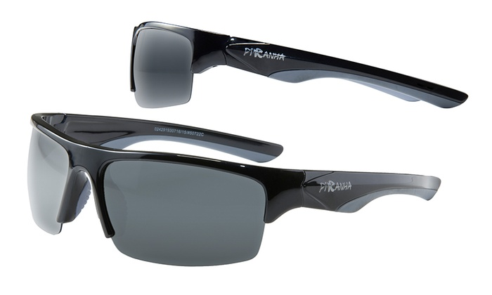 Men's Half-Frame Polarized Sunglasses with Sweat-Resistant Nosepads