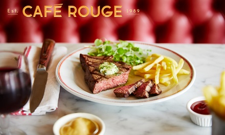 Two or ThreeCourse Meal for Two at Café Rouge, Nationwide