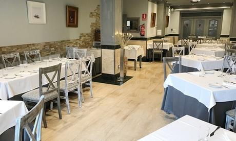 Menú para 2 con aperitivo, entrantes, principal, postre y bebida o botella de vino desde 34,99 € en La Añada