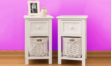White Wicker Storage Units from £34.99 With Free Delivery (Up to 58% Off)