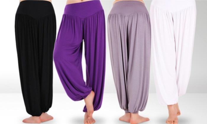 Pantalon De Yoga En Coton Melange Groupon Shopping