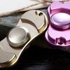 Fidget Spinner Stainless Steel Dual-Bearing Gadget (1- or 2-Pack)