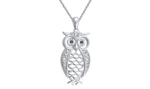 Diamond Accent Owl Pendant by Brilliant Diamond