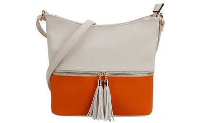 a9356458e393 Shop Groupon MKII Alina Medium Tassel Crossbody Purse