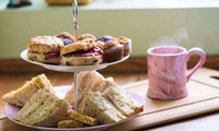 Afternoon Tea with a Pottery Painting Class for Two or Four at Doodle Alley