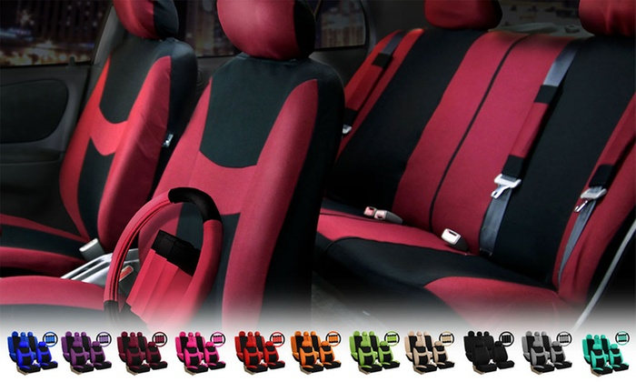 Light and Breezy Car Seat Cover Combo Set (14-Piece)