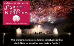 Château de Versailles Spectacles: Entrée simple ou prestige pour les Grandes Eaux Nocturnes du Château de Versailles, les 19 et 26 août 2017 dès 17 €