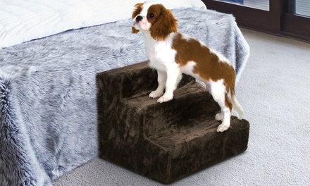 $25 for a 30cm Portable ThreeStep Pet Ramp Ladder with a Washable Cover
