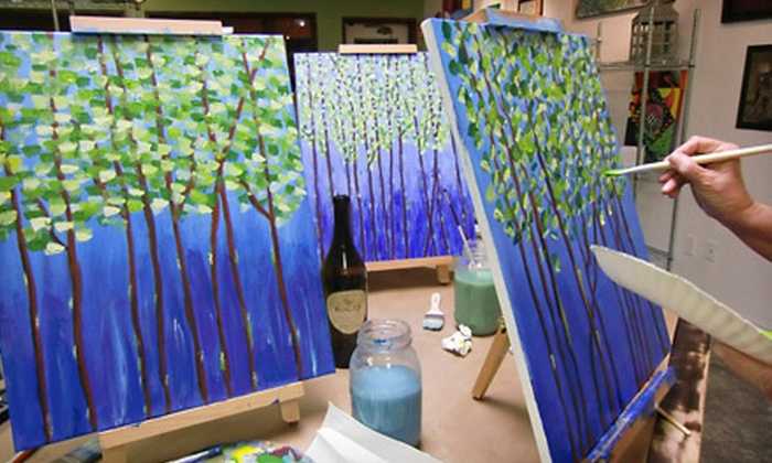 Vino's Picasso - Bonita Springs: Two-Hour Painting Class for One or for Two with Two Drinks at Vino's Picasso (Up to 52% Off)