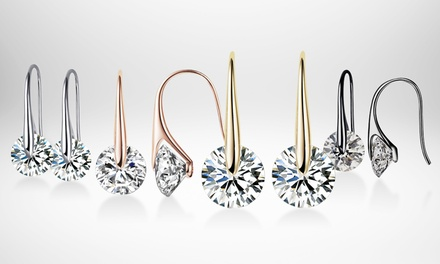 One or Two Pairs of Mestige Eclipse Earrings Adorned with Crystals from Swarovski® With Free Delivery
