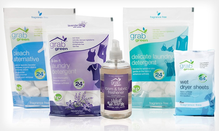 GrabGreen Eco-Friendly Laundry Package: $20 for a GrabGreen Eco-Friendly Laundry Package ($33.25 List Price). Free Shipping and Returns.