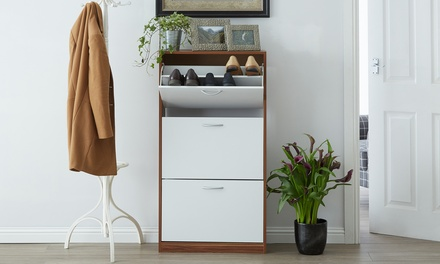 One or Two Three Drawer Shoe Cabinets in Choice of Colour