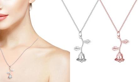 Philip Jones Rose Necklace