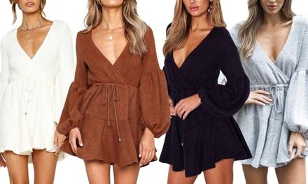 LongSleeve Knit Mini Dress: One $29 or Two $49