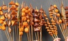 Four Skewers with Coca-Cola