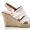 Sociology Women's Laser Cut Wedge Sandal | Groupon Exclusive (Size 8)