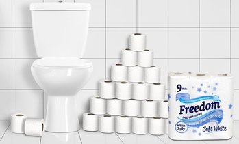 Freedom Soft White Toilet Rolls