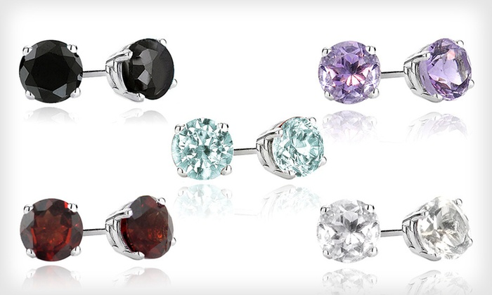 2-Carat Gemstone Stud Earrings: $10 for 2-Carat Gemstone Stud Earrings
