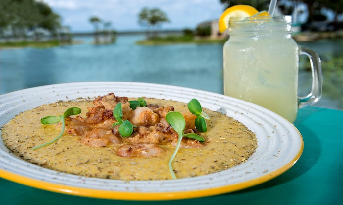 Seafood dishes fish camp lake eustis groupon for Fish camp lake eustis
