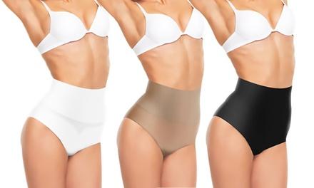 Culotte avec ceinture amincissante ventre plat, à lunité ou en lot de 3