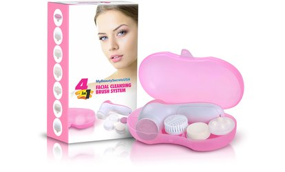$23.99 for Ultimate Skin Spa <strong>Facial</strong> Cleanser and Massaging Brush System at My Beauty Secrets ($99 Value)