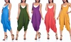 Isaac Liev Women's Harem Jumpsuit. Plus Sizes Available.