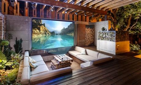 """Favi Home or Portable LED Projector with 100"""" Screen 38c8346c-8e82-11e7-9e55-00259069d868"""