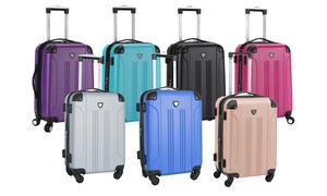 "Traveler's Club 20"" Hardside Spinner Expandable Carry-On Luggage"