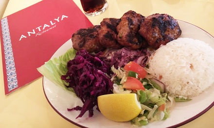 Two-Course Turkish Meal with Tea or Coffee for Two or Four at Antalya (Up to 55% Off)
