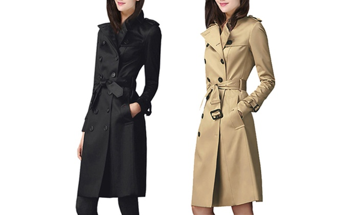 Groupon Goods: Nathalie Women's Trench Coat (Shipping Included)