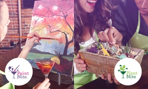 Paint Nite and Plant Nite at Local Bars (Up to 37% Off)  at Paint Nite and Plant Nite, plus 6.0% Cash Back from Ebates.
