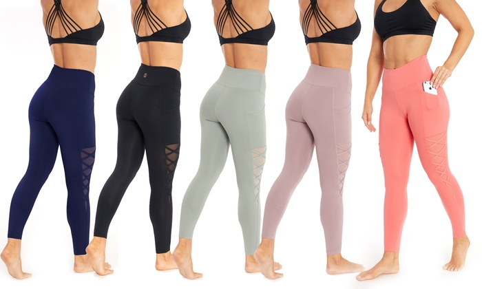 fc31c0bf3dad46 Up To 60% Off on Marika Criss-Cross Leggings | Groupon Goods