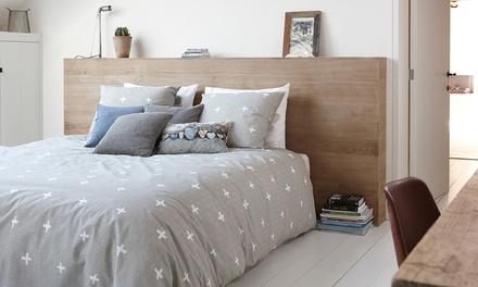 Bettwäsche-Garnitur aus 100% naturreiner Baumwolle mit Reißverschluss 135 x 200 cm oder 155 x 200 cm